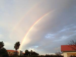 伊王島に架かる七色の虹