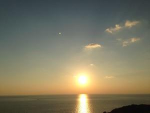 伊王島だから見える夕日「夕陽ケ丘」