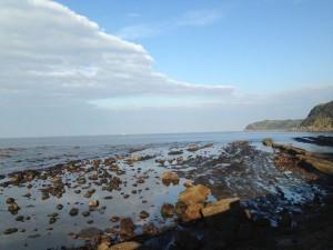 穏やかな波の伊王島