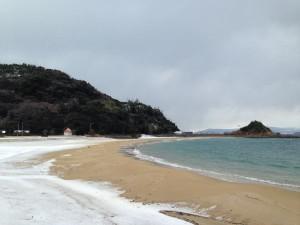 雪の海水浴場2