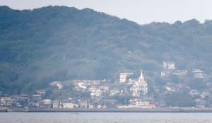 沖から見る馬込聖ミカエル教会