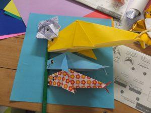 伊王島ふれアイランドで折り紙教室4