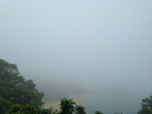 霧に霞むコスタ・デル・ソル