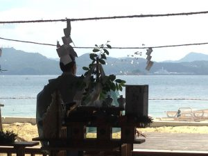 伊王島海水浴場の海開き4