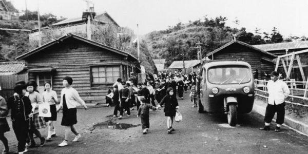伊王島町仲町付近1962年(昭和37年ごろ)