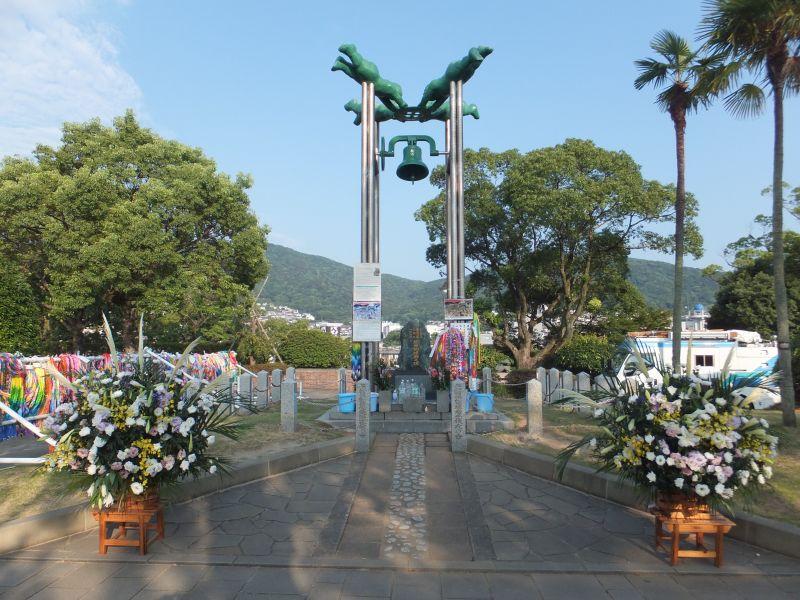 恒久平和を世界の人々に訴えるため建立された「長崎の鐘」