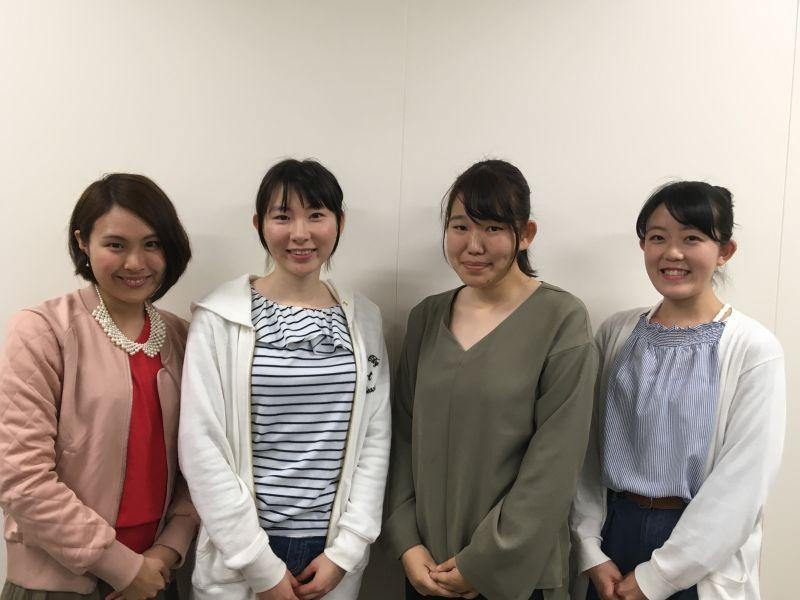 長崎大学やってみゅーでスク・U-サポ事務局を通じてボランティアの朗読に参加いただいた学生写真